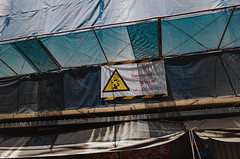 (kay fochtmann) Tags: warning hazard beware head injury danger sign falling symbol icon design illustration alert sticker safety risk man indicator label flying object job objects overhead information emblem mark caution protect graphical yellow obstacle black person dangerous striking death