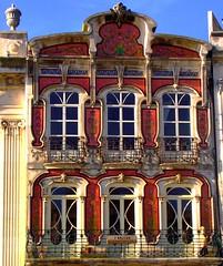 Aveiro front house windows balconies (patrick555666751 THANKS FOR 6 000 000 VIEWS) Tags: aveiro front house windows balconies dwwg portugal europe europa atlantic atlantique atlantico patrick55566675 facade fachada window fenetre finestre fenster ventana balcon balkon balcony portus color couleur colour