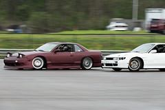 Speeding (Find The Apex) Tags: nolamotorsportspark nodrft drifting drift cars automotive automotivephotography nikon d800 nikond800 nissan 240sx nissan240sx s13 tandemdrift tandem tandemdrifting tandembattle