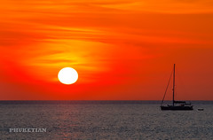 Sunset with yacht and catamaran. Nai Harn beach, Phuket island, Thailand (Phuketian.S) Tags: sunset sea yacht catamaran people boat sup paddleboard ocean evening phuket thailand закат яхта катамаран пхукет море океан таиланд phuketian landscape nature