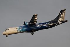 ES-ATA (LIAM J McMANUS - Manchester Airport Photostream) Tags: esata nordica flynordicacom ee est atr at7 at72 at76 atr72 atr72600 manchester man egcc