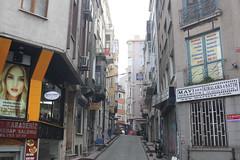 Karakoy Street Scene (lazy south's travels) Tags: istanbul turkey turkish urban galata disrict building architecture road street scene back backstreet narrow