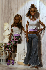 identical twins (photos4dreams) Tags: photos4dreams p4d photos4dreamz yoga barbie doll toy puppe madetomove dress mattel barbies girl play fashion fashionistas outfit kleider mode puppenstube tabletopphotography aa africanamerican darkskin