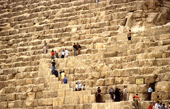 Entrance to the Great Pyramid (M McBey) Tags: pyramid egypt ancient pharaoh 1984 steps