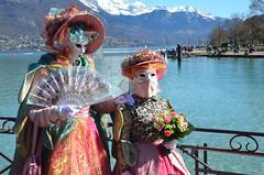 Roses de mars (RarOiseau) Tags: hautesavoie annecy carnaval masque paysage lac fête montagne événement lacdannecy