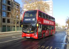 AB 2577 - YX17NPP - CAMBERWELL ROAD - THUR 17TH JAN 2019 (Bexleybus) Tags: camberwell road se5 london abellio adl dennis enviro 400 mmc tfl route 45 yx17npp 2577