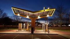 Sci-Fi Fastned (Esther Seijmonsbergen) Tags: chargingstation charge electriccars tesla thehague denhaag benoordenhout estherseijmonsbergen bluehour oplaadstation opladenelektrischeauto