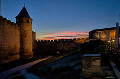 Carcassonne ramparts by night (i-lenticularis) Tags: carcassonne france nightphotography bluehour castle history ramparts
