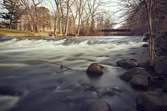 Red Cedar Flowing Rapids (matthewkaz) Tags: redcedar river redcedarriver water longexposure ndfilter rapids trees msu michiganstate michiganstateuniversity college campus building rocks eastlansing inghamcounty michigan 2019