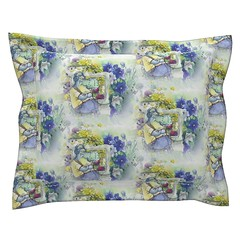 hippo travel music flowers staggered spring yellow gring periwinkle blue watercolor pillow by Floweryhat (FLOWERYHAT DESIGNS) Tags: floweryhat fabrics spoonflower roostery fabric hippo hippopotame animals animal fauna faune tissu stoff upholstery ameublement home homedeco homedecor textile flowers fleurs floral blumen music musique musik white blanc weiss watercolor aquarelle aquarel design designer designers decoration deco pod printondemand impression imprime impressiondemande fun stash sewing stiching seamless sew nahen coudre couture cotton coton collection travel journey voyage spring sprintime easter paques printemps oreiller taiedoreiller coussin pillow pillowcase throwpillow polyester synthetique