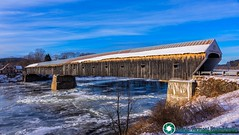 Cornish-Windsor Covered Bridge. (scenicvermontphotography) Tags: cornish–windsorcoveredbridge coveredbridge historic historicvermont newengland scenicvermont scenicvermontphotography snow vermont vermontcoveredbridge vermonthistory vermontlandscape vermontlandscapes winter winterinvermont