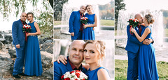 ... (Lena Ivashchenko) Tags: woman man flower bouquet bride groom she he nature people love wedding grass portrait fountain