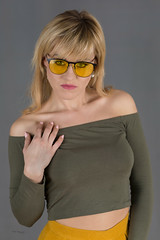 Yellow glasses (piotr_szymanek) Tags: ania aniaz woman young skinny face eyesoncamera studio portrait blonde yellow 1k 20f 50f 5k