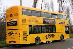 Bus Eireann VWD42 (151C7159). (Fred Dean Jnr) Tags: cork january2019 volvo buseireannroute215 b5tl wright wrightbus eclipse gemini3 vwd42 151c7159 tower wrap todayfm alloverad