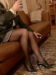 MyLeggyLady (MyLeggyLady) Tags: hot blond sex cfm thighs hotwife milf sexy secretary teasing miniskirt stockings suspenders pumps leather stiletto legs heels