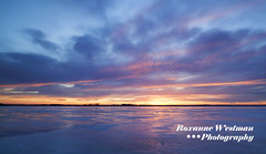 Sunset in the ice (roxiesplacephotography) Tags: mapleton nd usa winter north dakota sunset lakes ice clouds alice