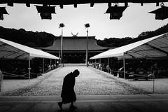 P2111185 Ceremonial day (soyokazeojisan) Tags: japan nara bw blackandwhite digital olympus em1markⅱ 12100mm 2019 2月11日 city 橿原神宮