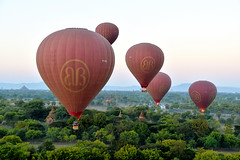 Bagan hab 3 (Neal J.Wilson) Tags: asia asian burma burmese myanmar bagan hot air balloon ballooning flying temples buddhism buddisttemples stupa