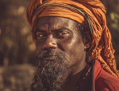 spiritual warrior (andy_8357) Tags: sony a6000 orche hindu hinduism sadhu pharping nepal street portrait portraiture man kind spiritual warrior determined determination friendly gentle alpha ilcenex ilce6000 mirrorless sigma 60mm f28 turban piercing eyes intense beard mustache sunlight people person