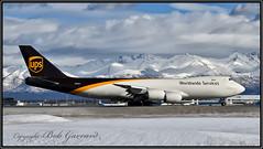 N605UP United Parcel Service (UPS) (Bob Garrard) Tags: n605up united parcel service ups boeing 748f 747 anc panc snow