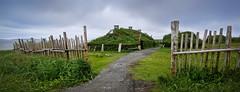Vikings! (freakingrabbit) Tags: vikings norsemen canada newfoundland village historic longhouse fence sky panorama hiistoric