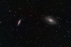 Cigar galaxy M82 and Bode's galaxy M81 (Photoniac22) Tags: astronomy night deepsky galaxy