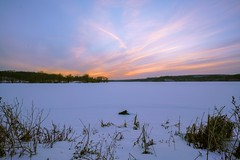 Sunset Cootes Paradise (AncasterZ) Tags: sunset loxia21mmf28 cootesparadise lake snow winter