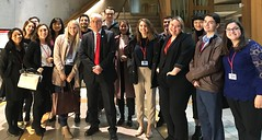 Welcoming Hansard Society group to Holyrood