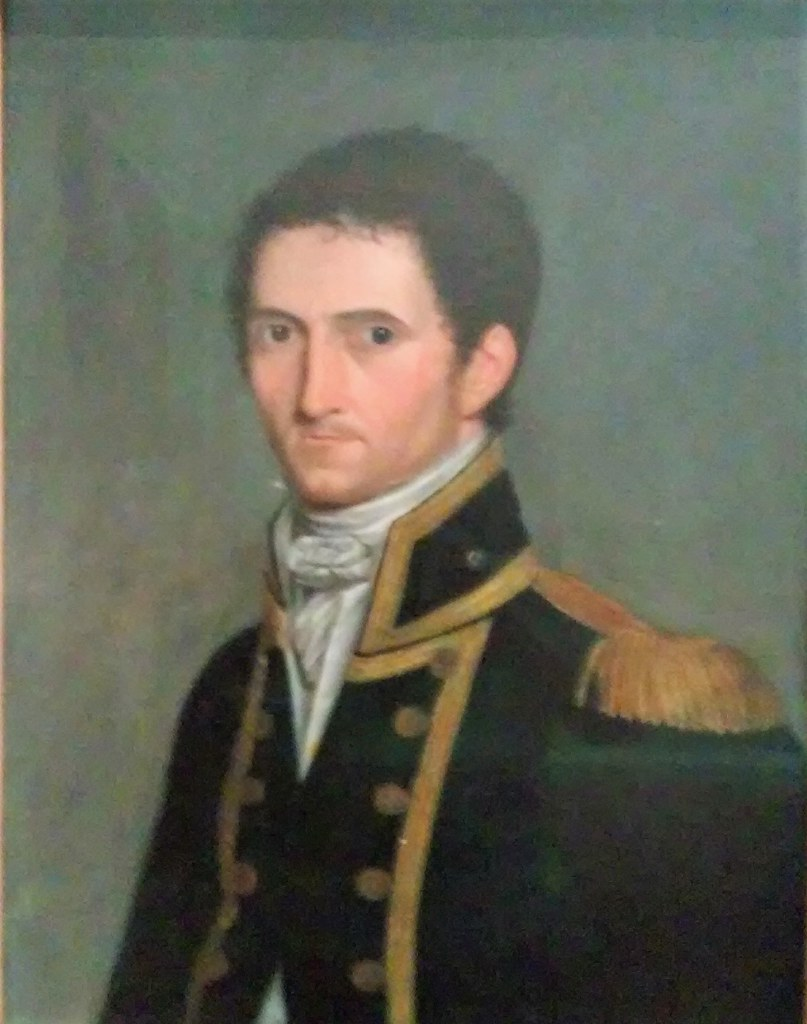 Adelaide. In the Art Gallery of South Australia a portrait of Captain Matthew Flinders who charted the coast line of South Australia in 1802.