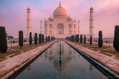 The Real Deal (...Kush...) Tags: tajmahal taj mahal india incredibleindia history mughal architecture tomb persia sunrise landscape photography fog mist reflection
