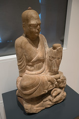 Chinese Louhan monk seated (quinet) Tags: 2017 antik asia canada ontario rom royalontariomuseum toronto ancien antique