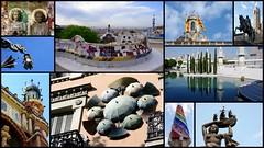 Barcelone (Espagne) (Thierry LARERE) Tags: espagne españa cartepostale photomontage barcelone barcelona catalogne