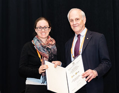 APS Prizes And Awards Ceremony (apsphysics) Tags: aps prizes and awards ceremony 2019 march meeting recipient david gross george e valley jr prize julia mundy