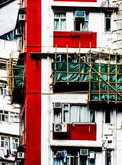 UpGrading.jpg (Klaus Ressmann) Tags: omd em1 china facade hongkong klausressmann winter architecture cityscape colourful constructionsite design flccity housing omdem1