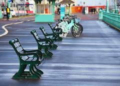 Benches And Bikes (WHO 2003) Tags: brighton promenade benches bikes