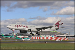 A7-AFZ Airbus A330-243(F) Qatar Airways Cargo (elevationair ✈) Tags: dub eidw dublin airport dublinairport ireland sun sunny sunshine arrival landing avgeek aviation airplane plane airbus a330 a33f airbusa330243f qatar qatarairwayscargo a7afz freighter cargo