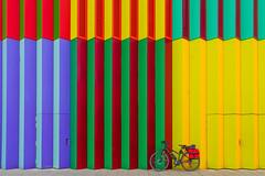 2019 Bike 180: Day 44, March 26 (suzanne~) Tags: 2019bike180 bike bicycle munich bavaria germany colorful stripe mira