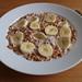 Glutenfreie Haferpops (von Bauckhof) mit Honig, Bananen und Heißer Milch