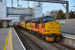 37175 t&t 37521 - Cambridge North - 01/04/19. (TRphotography04) Tags: colas rail freight 37175 37521 open up through cambridge north topntailing 1q90 1518 derby rtcnetwork ferme park recp network test train