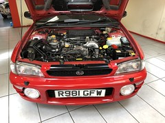 IMG_0317 (deeelux) Tags: red subaru impreza wagon 2000 turbo uk spec 1997 r981gfw