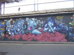 671 (en-ri) Tags: idrolab unit ragazza girl lische rosso mostri monster nero blu torino wall muro graffiti writing