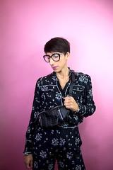 (S.t.m_photos) Tags: nikon france bordeaux pink yellow stripe shooting shoot girl girls fashion balmain erden clock time portrait eyes eye kenzo