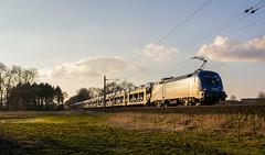 Millionenzüge (3) (Klaus Z.) Tags: eisenbahn kbs 390 nortmoor amkolk br 182 taurus güterzug autozug millionenzug mittelweserbahn winter