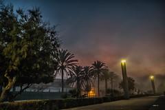 promenade (Heinertowner) Tags: strase street promenade strand playa de palma mallorca nebel fog seifenblasen bubbles