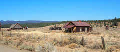 Whitney Wide Angle (Eclectic Jack) Tags: eastern oregon trip october 2018 rural agriculture farm farming autumn fall mountains irrigation abandoned house structure home shed fence outhouse