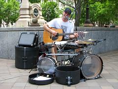 One Man Band (Multielvi) Tags: washington dc district columbia man band one musician street performer