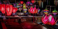 Floating lanterns (bransch.photography) Tags: lamp festival color asia vietnamese romantic reflection vietnam unesco outdoor travel destination traditional light culture river lantern colorful celebration beautiful bright lighting indochina decoration heritage boat asian colorfullanterns hoianancienttown hoian colour