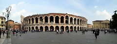 Amphitheatre Outside (Worthing Wanderer) Tags: verona italy spring april sunny city roman ruins architecture