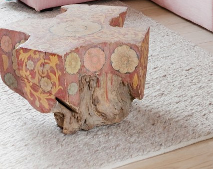 Painted Stump Table
