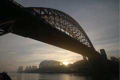 Sunlit Tyne Bridge (Explore 02-03-2019) (pshep1) Tags: rivertyne tyne sunlight sunrise sky milleniumbridge baltic mist gateshead tynebridge fog bridge newcastle newcastleupontyne northeast greatbritain uk unitedkingdom